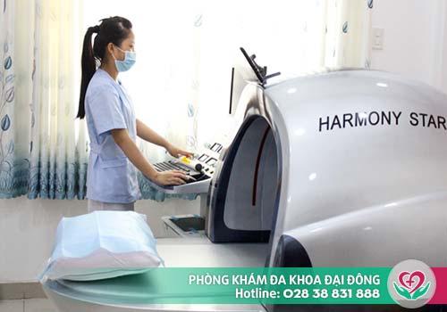 Máy móc hiện đại hỗ trợ điều trị xuất tinh ra máu tại Đa Khoa Đại Đông
