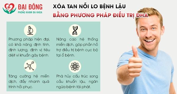 Điều trị bệnh lậu bằng phương pháp DHA mang lại sự an toàn, hiệu quả